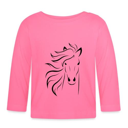 pferd silhouette - Baby Langarmshirt