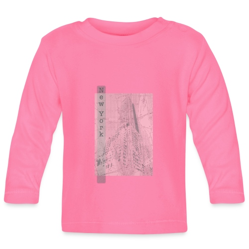 New York - Langærmet babyshirt