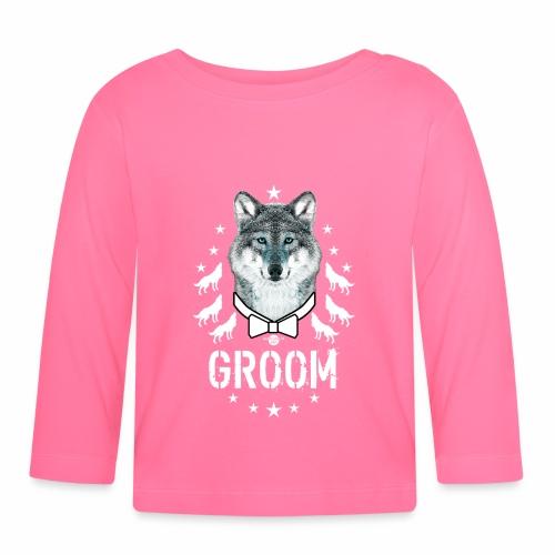 161 Wolf JGA GROOM Wolfpack Sterne - Baby Langarmshirt