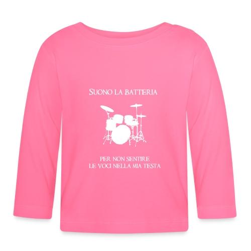 Batterista - Maglietta a manica lunga per bambini