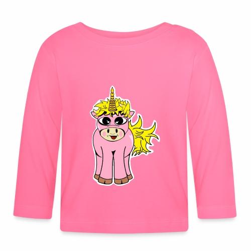 Unicorn female smile - T-shirt manches longues Bébé