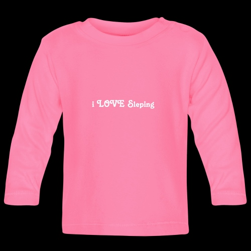 i love sleeping weiss - Maglietta a manica lunga per bambini