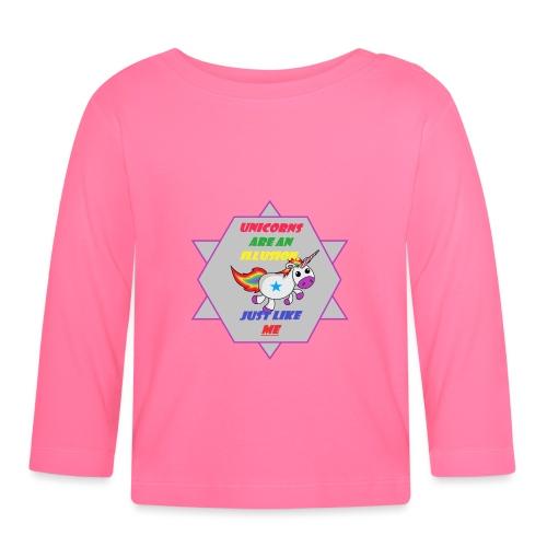 Unicorn with joke - Baby Long Sleeve T-Shirt