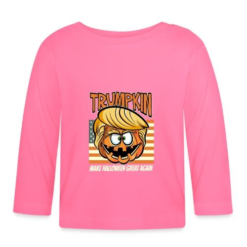Trumpkin Donald Trump Halloween - Baby Langarmshirt