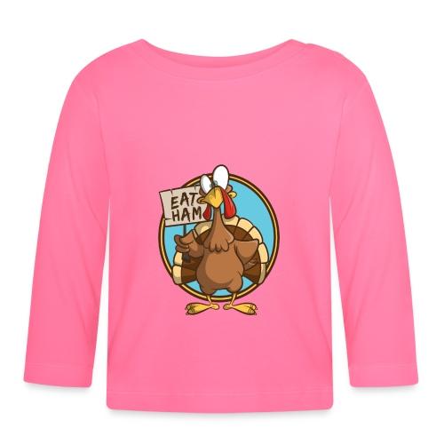 Truthahn Pute Weihnachten Thanksgiving - Baby Langarmshirt