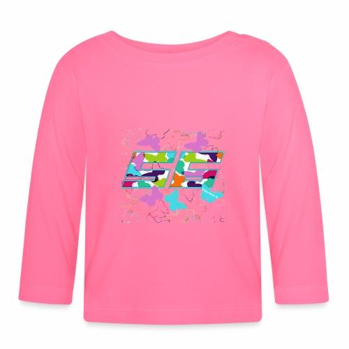 Dorsal mariposas de colores - Camiseta manga larga bebé