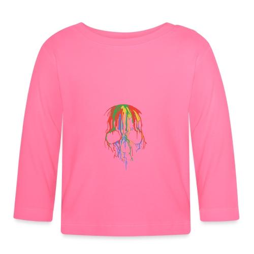 Skull and Colours - Camiseta manga larga bebé