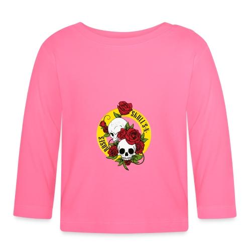 SKULL'S N ROSES - Camiseta manga larga bebé