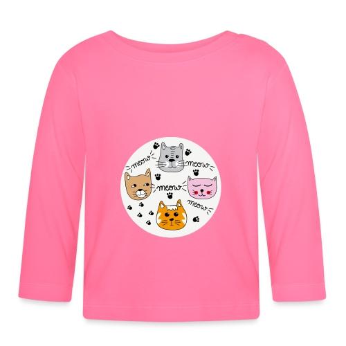Miau Meow Katzen Cats - Baby Langarmshirt