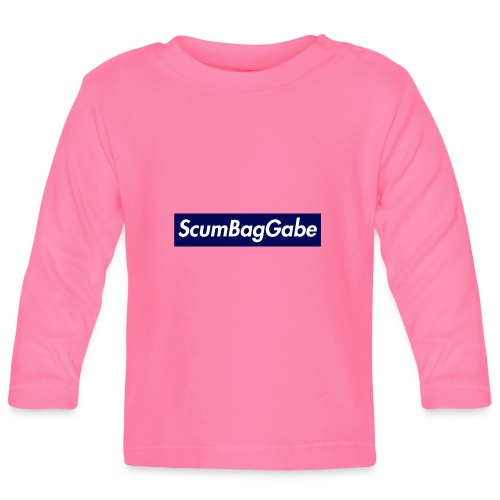 ScumBagGabe Blue XL Logo - Baby Long Sleeve T-Shirt