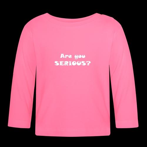 Are you serious weiss - Maglietta a manica lunga per bambini