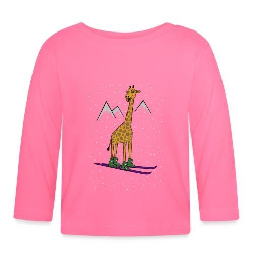 Skiraffe lol - Baby Long Sleeve T-Shirt