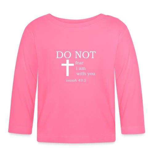 'DO NOT' t-shirt (white) - Baby Long Sleeve T-Shirt