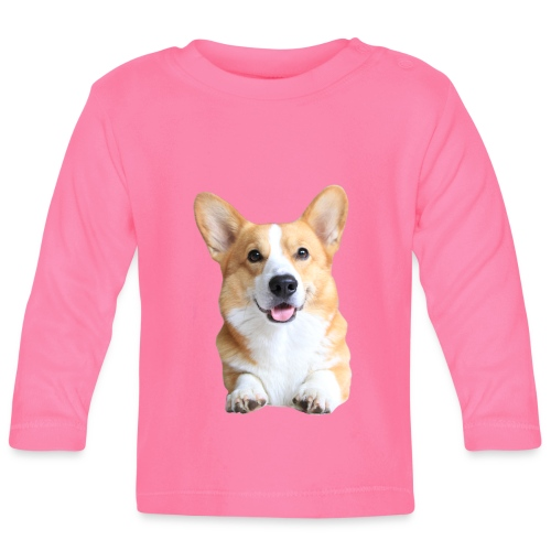 Topi the Corgi - Frontview - Baby Long Sleeve T-Shirt