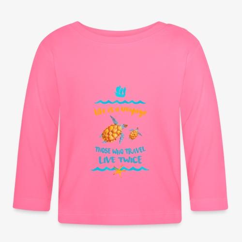 life is a travel - Koszulka niemowlęca z długim rękawem