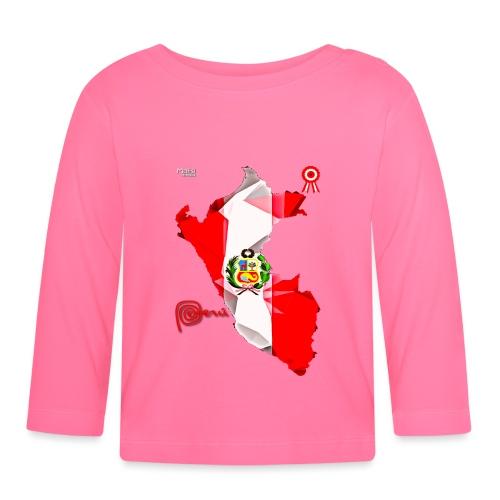 Mapa del Peru, Bandera y Escarapela - T-shirt manches longues Bébé