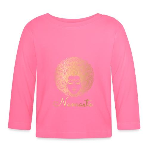 Namaste Yoga Goddess - Baby Long Sleeve T-Shirt