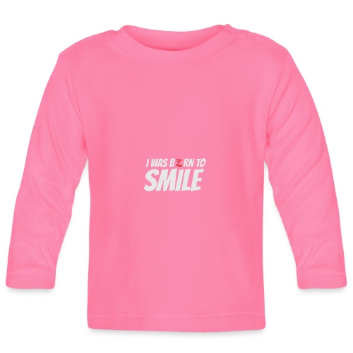 Gute Laune Shirt I was born to smile - Grinsbacke - Baby Langarmshirt