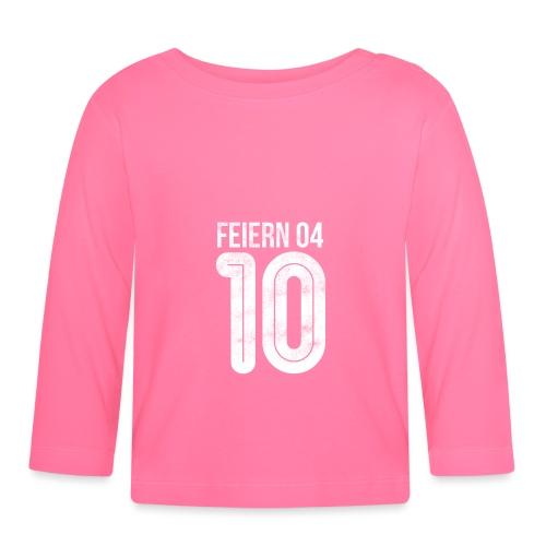 feiern04 | Partyshirt für Fussballer - Baby Langarmshirt