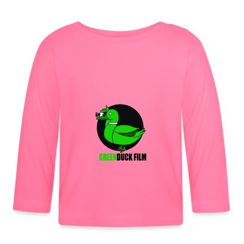 Greenduck Film Logo w. black letters - Langærmet babyshirt
