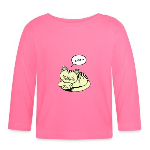 Schlafende Katze - Baby Langarmshirt