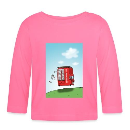 Feuerwehrwagen - Baby Langarmshirt