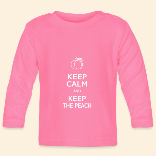 Teddy Keep calm and Keep The Peach - T-shirt manches longues Bébé