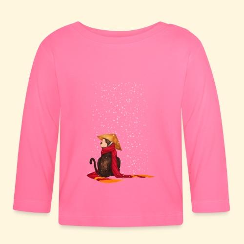 Un singe en hiver sous la neige - T-shirt manches longues Bébé