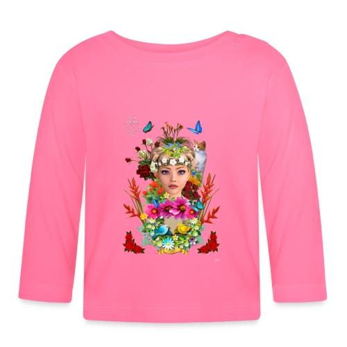 Lady spring by t-shirt chic et choc (dark & black) - T-shirt manches longues Bébé