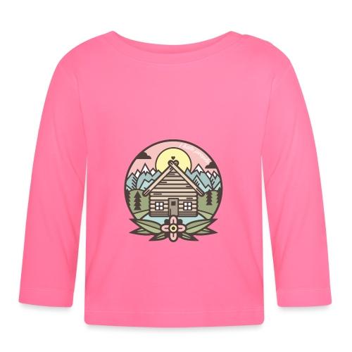 i hate people casa in montagna - Maglietta a manica lunga per bambini