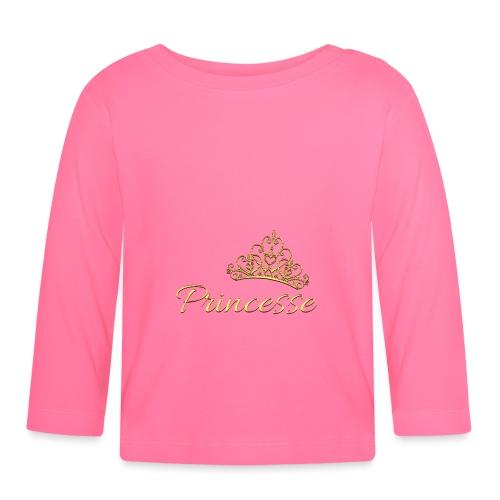 Princesse Or - by T-shirt chic et choc - T-shirt manches longues Bébé