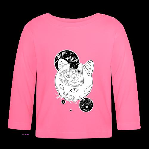 Kosmiczny Kot Imperator - Koszulka niemowlęca z długim rękawem