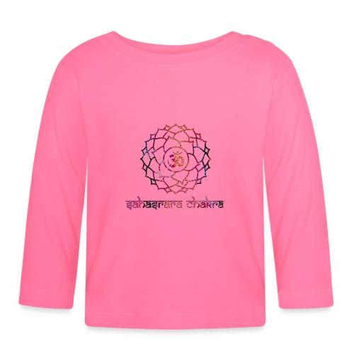 Sahasrara Kronenchakra Bunt Yoga Chakra Motiv - Baby Langarmshirt