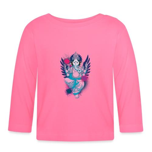 Ganesha dein Glücksgott macht den WEG frei - Baby Langarmshirt