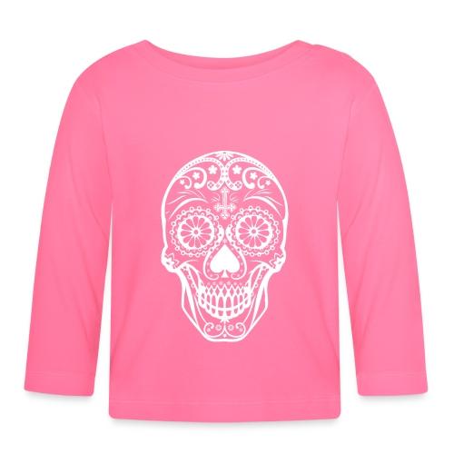 Skull white - Baby Langarmshirt