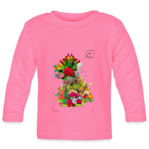 Lady flower -by- T-shirt chic et choc - T-shirt manches longues Bébé
