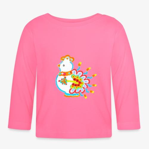 Vogel neon bunt - Baby Langarmshirt