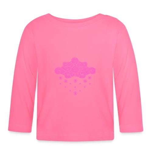 nuage rose et flocons vacances d'hiver - T-shirt manches longues Bébé