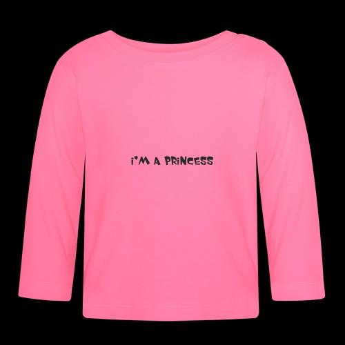 im a princess schwarz - Maglietta a manica lunga per bambini