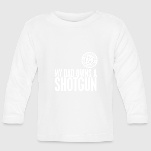 skull white png - Langærmet babyshirt