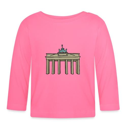 Brama Brandenburska BERLIN c - Koszulka niemowlęca z długim rękawem