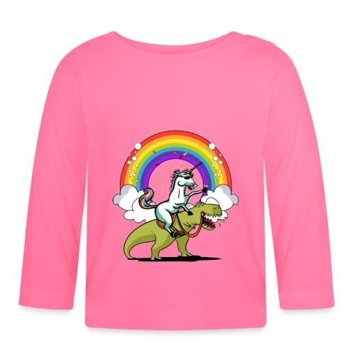 Unicorn Riding Ninja - Vauvan pitkähihainen paita