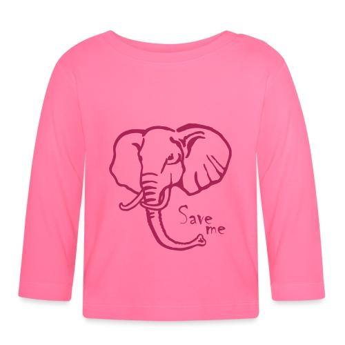 Afrika-Elefant I Save me - Baby Langarmshirt