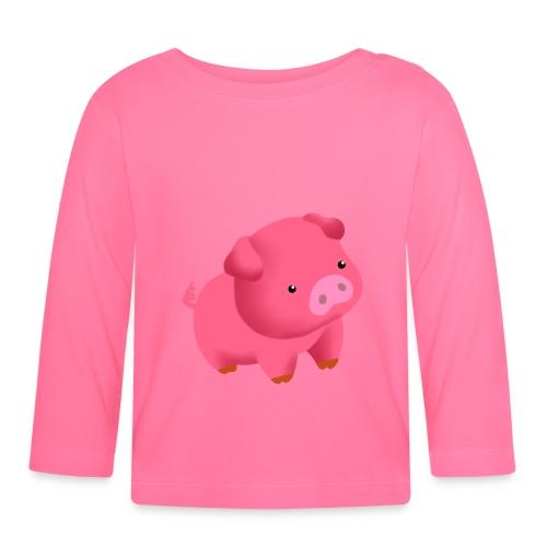 Camisa Cerdito - Camiseta manga larga bebé