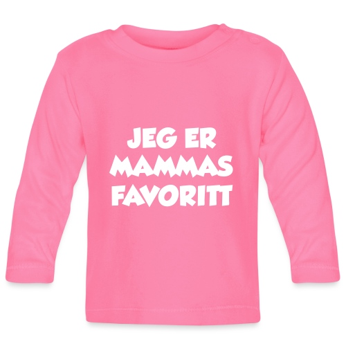 «Jeg er mammas favoritt» (fra Det norske plagg) - Langarmet baby-T-skjorte
