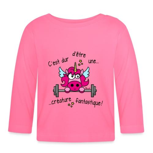 Licorne Muscu Créature Fantastique - T-shirt manches longues Bébé