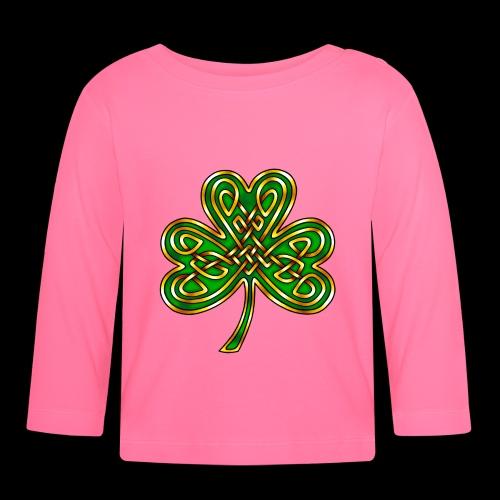 Celtic Knotwork Shamrock - Baby Long Sleeve T-Shirt
