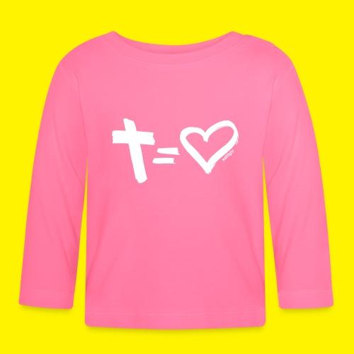Cross = Heart WHITE // Cross = Love WHITE - Baby Long Sleeve T-Shirt