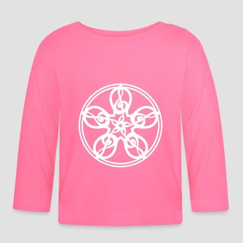 Treble Clef Mandala (white) - Baby Long Sleeve T-Shirt