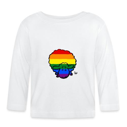 Regenbogen-Stolz-Schafe - Baby Langarmshirt